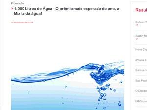 Campanha da Mix FM distribui 1.000 litros de água (Foto: Reprodução)