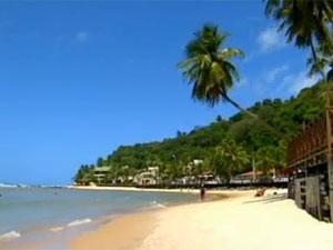Praia de Pipa, no Rio Grande do Norte (Foto: Reprodução/TV Globo)