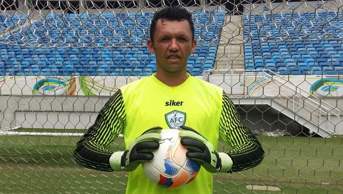 Messi goleiro do Alecrim (Foto: Diógenes Baracho/Divulgação)