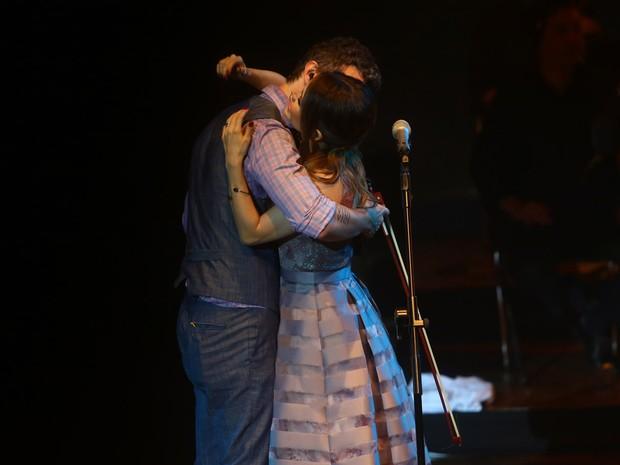 Sandy e Lucas Lima em show em São Paulo (Foto: Iwi Onodera/ EGO)