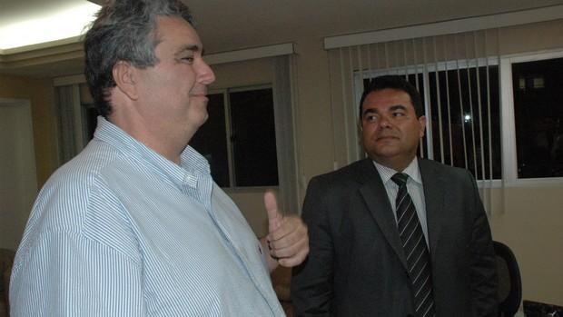 Ariano Wanderley e Eduardo Medeiros (Foto: Lucas Barros / Globoesporte.com/pb)