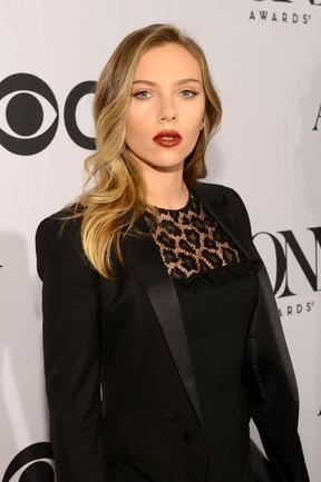 Scarlett Johansson no Tony Awards, em Nova York, nos Estados Unidos (Foto: Larry Busacca/ Getty Images/ AFP)