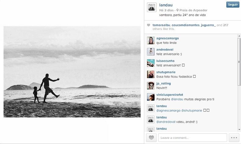 HDR (Foto: Instagram @landau // Reprodução)