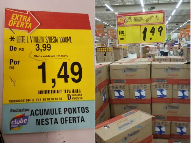 54851d097ebe8 G1 - Promoção de leite a R$ 1,49 acaba e causa confusão em ...