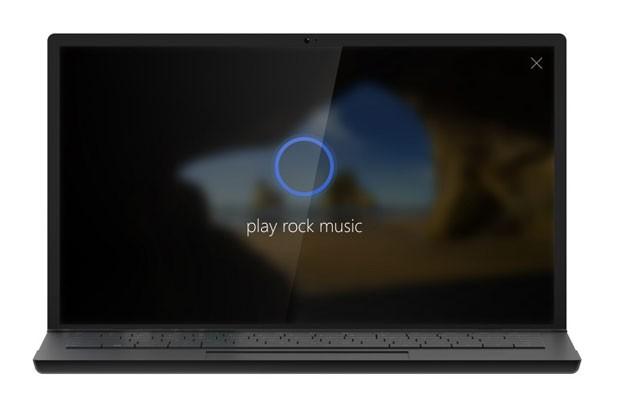 Tela de computador com Windows 10 executando a assistente pessoal Cortana. (Foto: Divulgação/Microsoft)