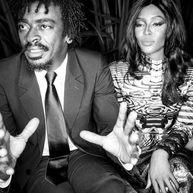 Seu Jorge e Naomi Campbell (Foto: Reprodução)