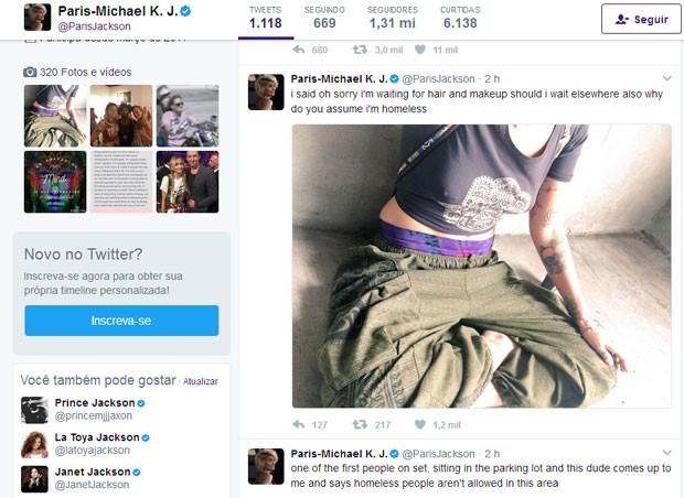 Paris Jackson revela que foi confundida com mendiga  (Foto: Reprodução)