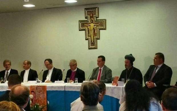Entidades lançam Campanha da Fraternidade de 2016 (Foto: Carolina Cruz/G1)