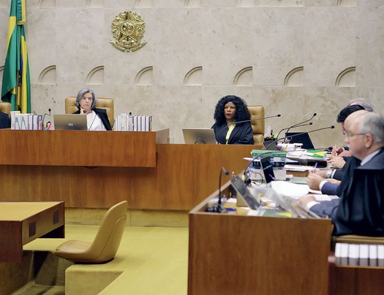 Plenário do STF ao julgar o cumprimento de pena por condenados em segunda instância (Foto: Agência Senado)