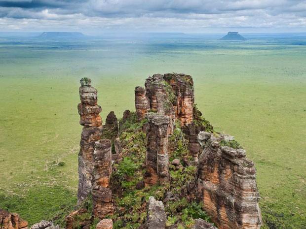 Durante 62 dias, o fotógrafo Zé Paiva percorreu o Tocantins para registrar as belezas naturais do Estado. Esta imagem foi capturada na Estação Ecológica da Serra Geral (Foto: Zé Paiva/Vista Imagens/BBC)