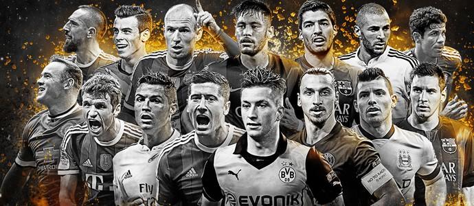 Atacantes indicados seleção da Fifa (Foto: Divulgação)