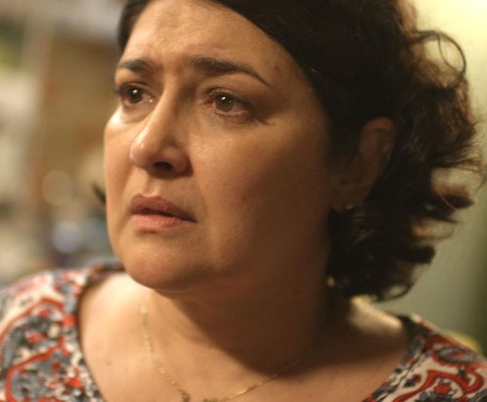 Sueli diz que a polícia deve achar que ele atropelou Ciça (Foto: TV Globo)