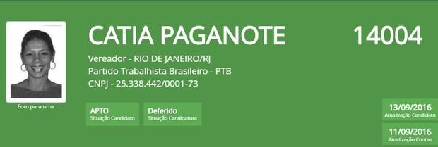 Catia Paganote (Foto: Reprodução/TSE)