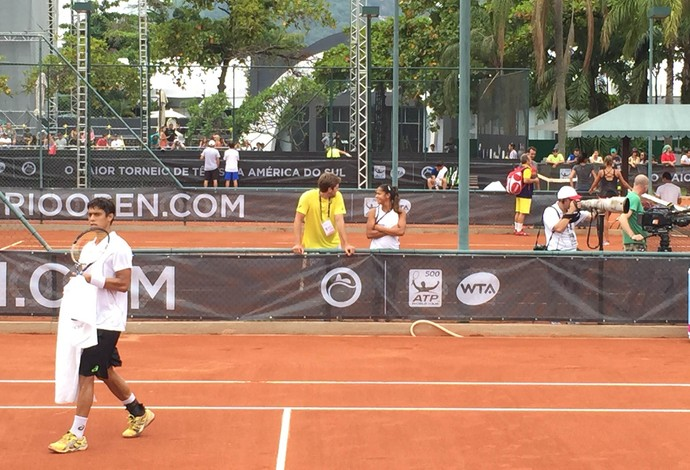 treino Nadal contra o irmão de Teliana tenis (Foto: Thiago Quintella)