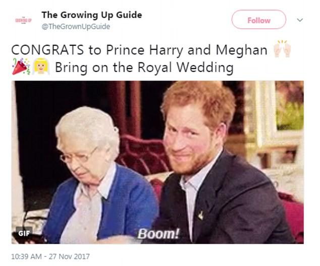 Príncipe Harry e Meghan Markle (Foto: Twitter)