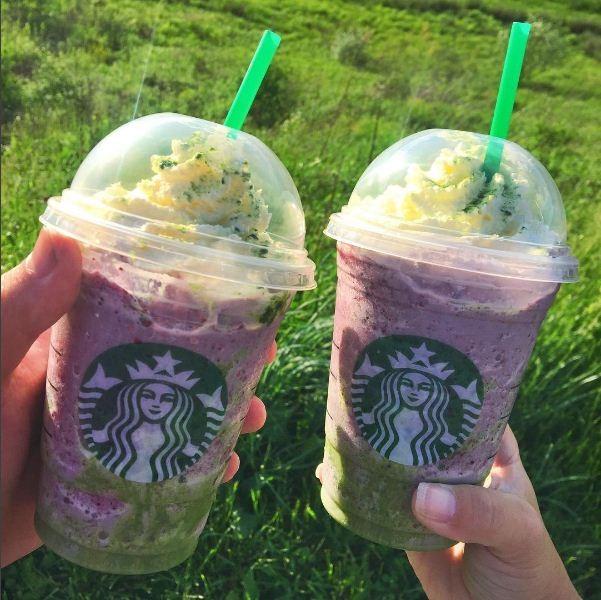 Frappuccino de sereia é a nova bebida do Starbucks! (Foto: Reprodução/Instagram)
