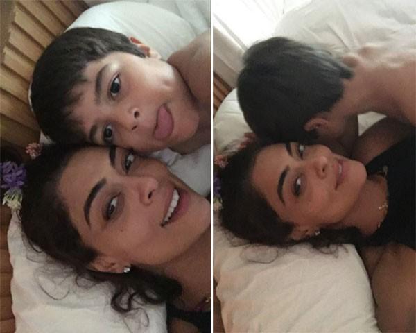 Juliana Paes e filho (Foto: Reprodução/Instagram)