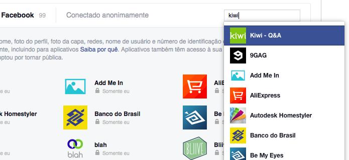 Use a busca para localizar o aplicativo Kiwi (Foto: Reprodução/Helito Bijora)