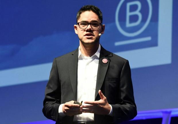 Marcel Fukayama, cofundador e presidente do movimento Sistema B Brasil durante o 18° Congresso IBGC (Instituto Brasileiro de Governança Corporativo) (Foto: Divulgação)