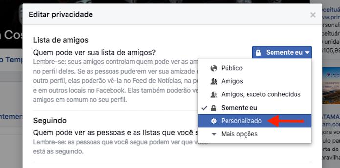 Acessando a opção para escolher os amigos que podem ver a lista de contato do Facebook (Foto: Reprodução/Marvin Costa) (Foto: Acessando a opção para escolher os amigos que podem ver a lista de contato do Facebook (Foto: Reprodução/Marvin Costa))