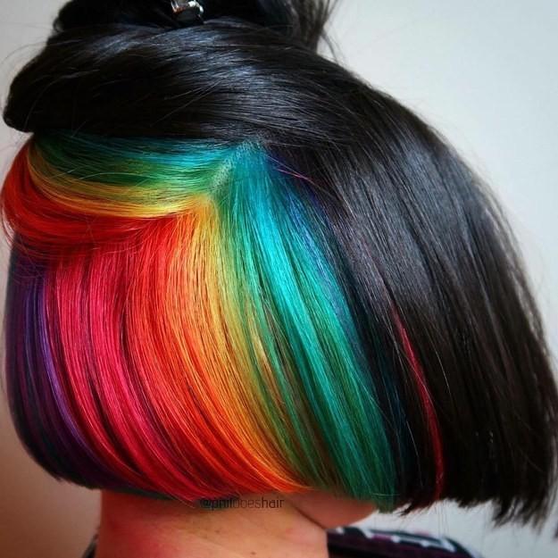 Resultado de imagem para cabelo arco iris