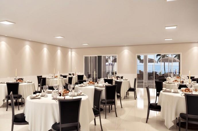 Salão de festas com Lounge vista mar  (Foto: Divulgação)