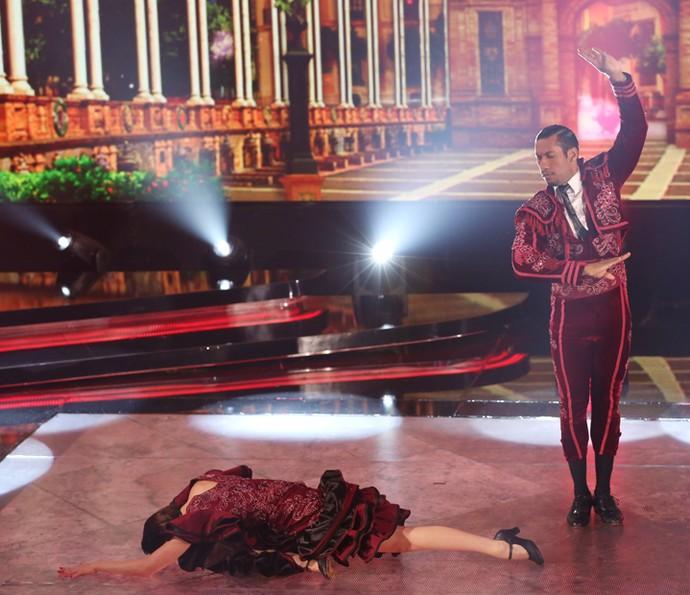 Sophia e Rodrigo apresentaram uma coreografia dramática (Foto: Carol Caminha/Gshow)