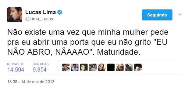 Tweet de Lucas Lima (Foto: Reprodução/Twitter)