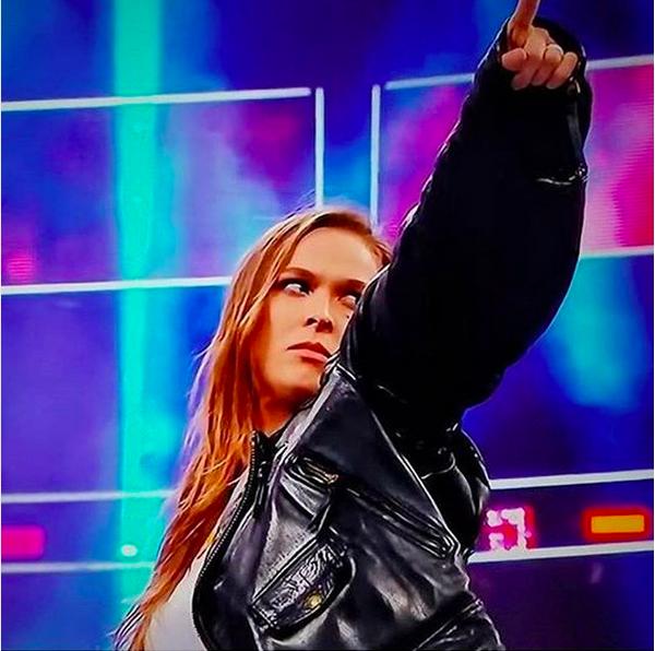 A lutadora Ronda Rousey em sua estreia no WWE (Foto: Instagram)