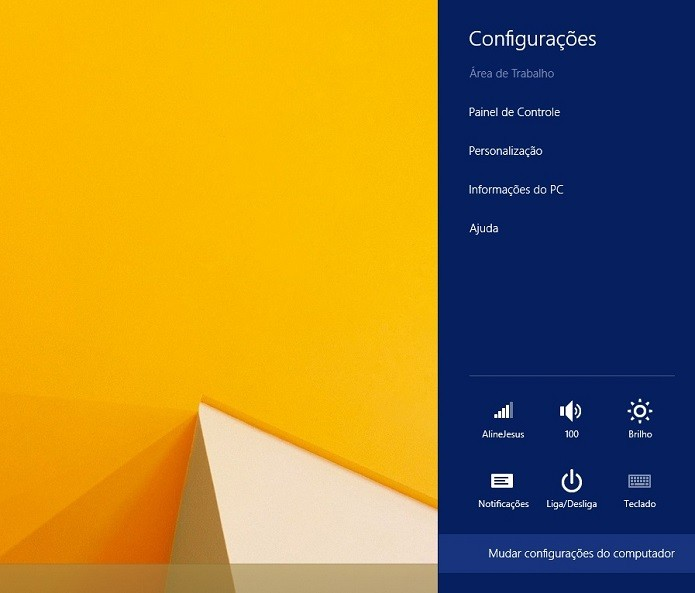 Abra o menu de configurações (Foto: Thiago Barros/Reprodução)