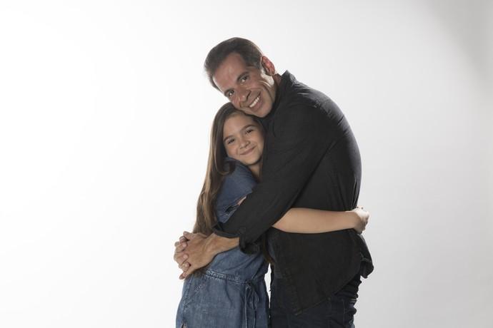 Mel Maia será Duda, filha de Théo, interpretado por Leandro Hassum em 'A Cara do Pai' (Foto: Raphael Dias / Gshow)