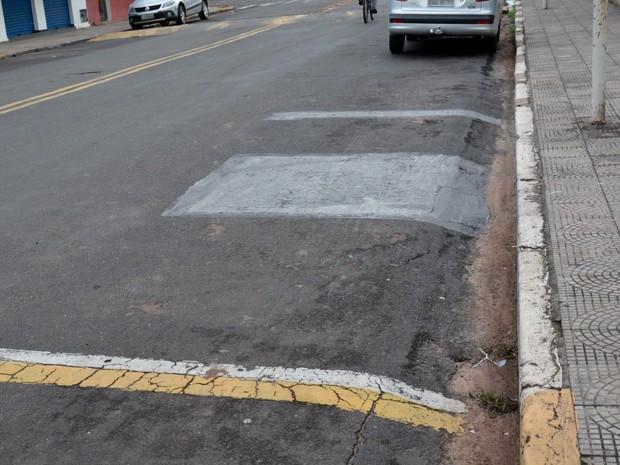 Espaço foi pintado pelo Departamento de Trânsito (Foto: Prefeitura de Martinóplis/Divulgação)