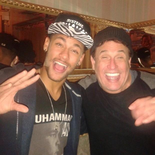 Neymar e Sérgio Mallandro (Foto: Instagram / Reprodução)