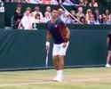 Djokovic e Dimitrov imitam Sharapova e simulam strip-tease na Inglaterra