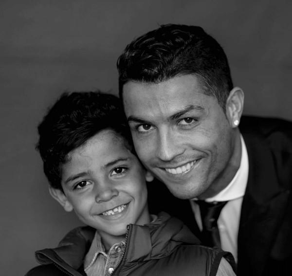 Cristiano Ronaldo e o filho caçula, Cristiano Jr. (Foto: Reprodução / Instagram)