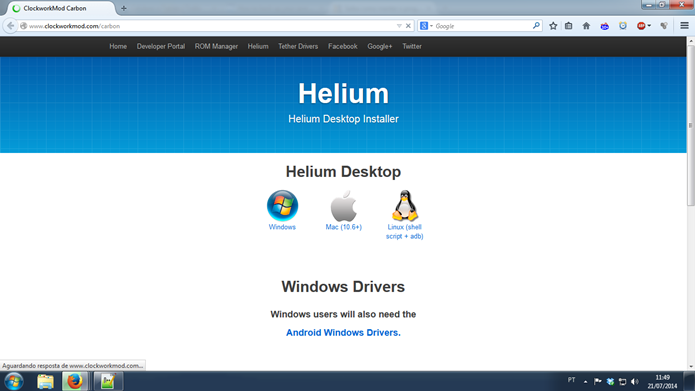 Você precisa baixar o Helium no computador e no smartphone/tablet com Android (Foto: Reprodução / Dario Coutinho)