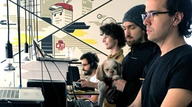 Parte da equipe do Nubank no escritório de Berlim (Foto: Divulgação)