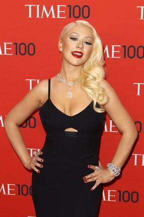 Christina Aguilera em evento em Nova York, nos Estados Unidos (Foto: Lucas Jackson/ Reuters)