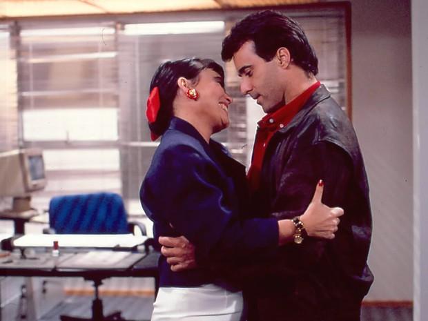 Maria do Carmo (Regina Duarte) e Edu (Tony Ramos)