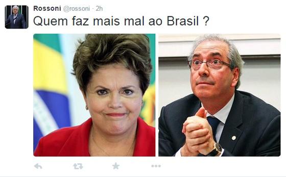 Deputado federal do PSDB questiona posição do partido em relação a Eduardo Cunha (Foto: Twitter)