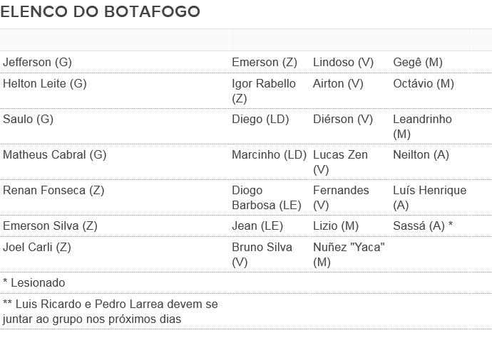 Elenco Botafogo 2016 (Foto: GloboEsporte.com)