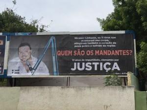Outdoors cobram punição dos mandantes do aassassinato do radialista (Foto: G1 CEará)
