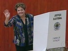 Em Porto Alegre, presidente Dilma Rousseff despista sobre voto