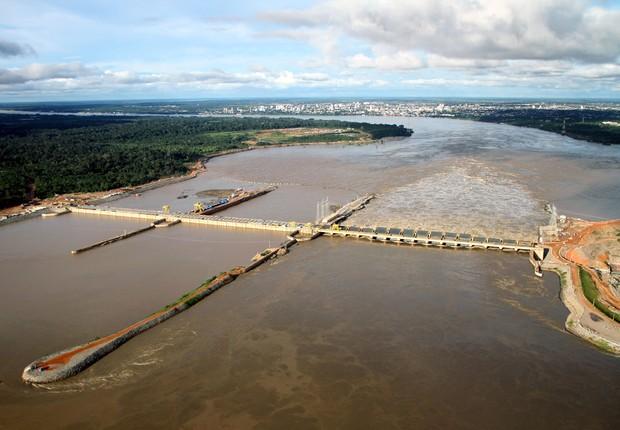 Usina Santo Antonio no Rio Madeira, em Rondônia (Foto: Cleris Muniz/Divulgação)