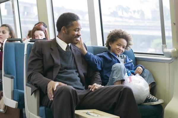 Jaden Smith e Will Smith em 'À Procura da Felicidade' (2006) (Foto: Reprodução)