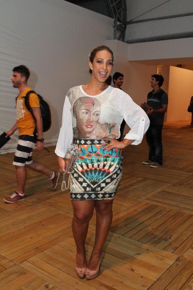 Valesca popozuda no Fashion Rio (Foto: Anderson Borde / AgNews)