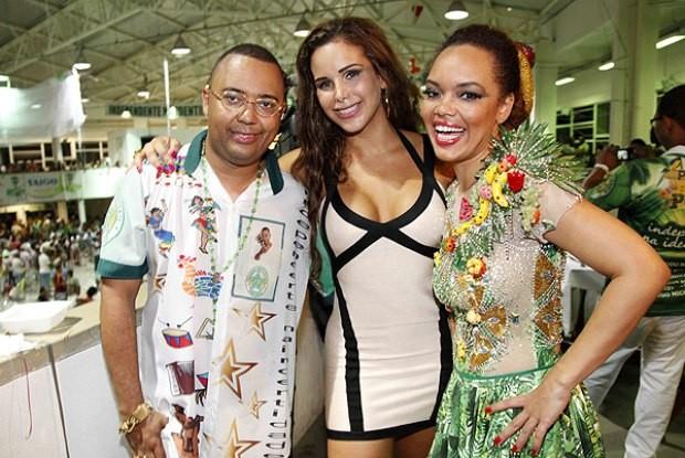 Dudu Nobre com a mulher Priscila, e a irmã Lucinha (Foto: Fernando Azevedo/Divulgação)