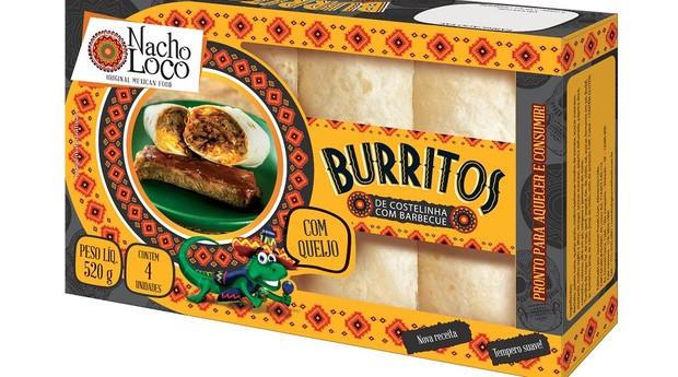 Os burritos sabor costelinha com barbecue são os mais vendidos (Foto: Divulgação)
