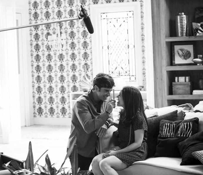 Marcos Pitombo e Sabrina Petraglia interpretam Felipe e Shirlei, casal shippado pelo público (Foto: Raphael Dias/Gshow)