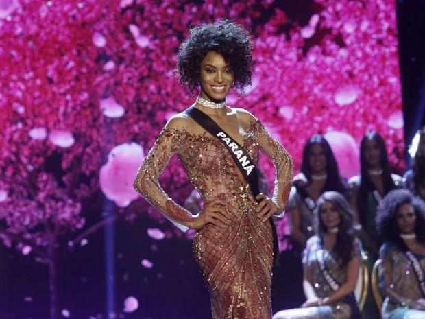 Raissa Santana, do Paraná, no Miss Brasil 2016 em São Paulo (Foto: Celso Tavares/ EGO)